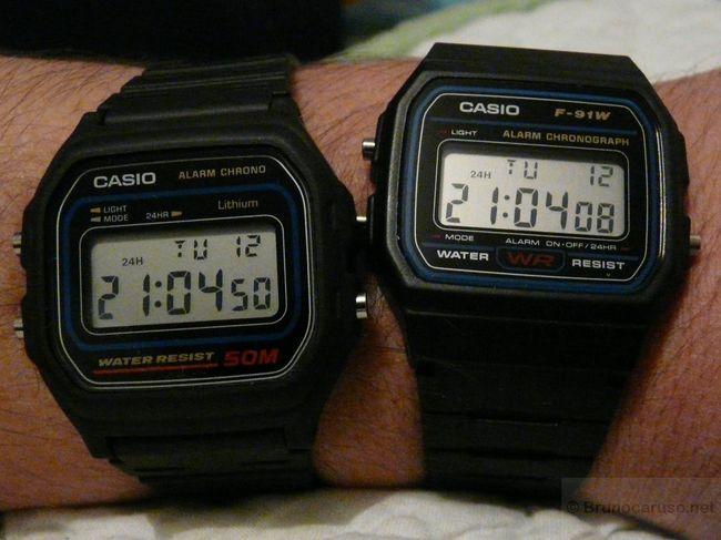 Bracelet de montre Casio pour W 59 1VD, F 91W 1,résine,noire