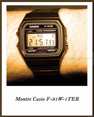 Casio F-91W-1YER quartz digital et chronomètre