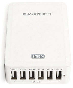 Le chargeur 6 ports USB RAVPower 10A